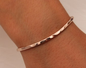 Hammered Cuff Bracelet, Rose Gold Filled (351.rgf)
