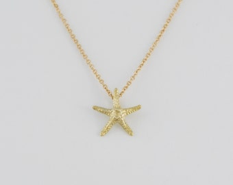 Solid 14K Gold Starfish