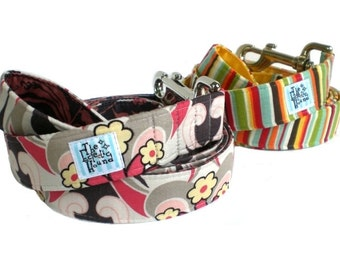 Matching Fabric-Wrapped Dog Leash