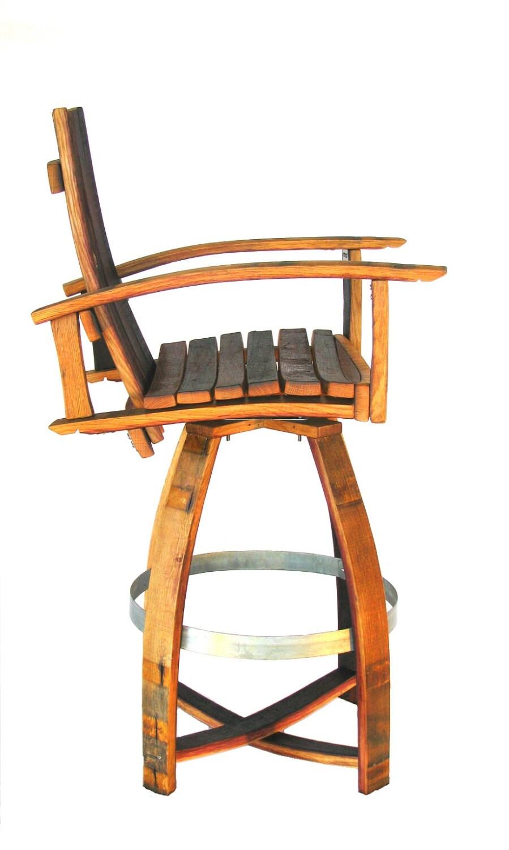 Chaise de bar baril vin rouge bourgogne naturel ch ne for Chaise de bar rouge