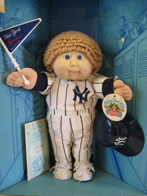 Vintage 1986 Ny Yankees Cabbage Patch Kid Doll In Original