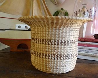 Vintage Large Sweetgrass Basket