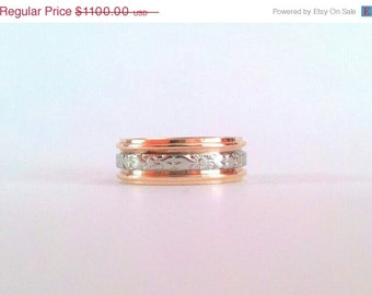 Orange Blossom Ring Men's Wedding Band