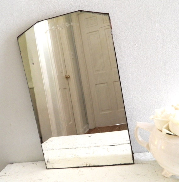 Vintage Etched Mirror Frameless By Alwaysmaybevintage On Etsy