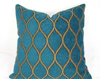 Iman - Tourmaline Teal Velvet - Decorative Pillow Cushion Cover - Accent Pillow - Throw Pillow