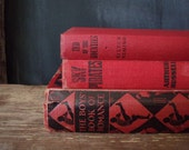 Vintage Children's Book Stack - Shades of Red - For Boys - alittlebitdusty