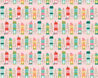 SALE - Riley Blake Fabrics - So Happy Together - Happy House - PINK