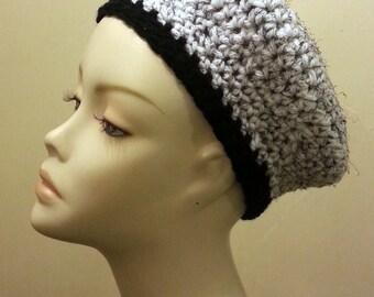 Sale - Crocheted Beret Hat, Crochet Beret, Beret, Crochet Hat. FREE UK DELIVERY