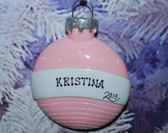 Baby Girl Ornament Ball