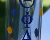 Great gift idea for Sorority Sister. Sorority Tumbler Cups. Free Personalization.