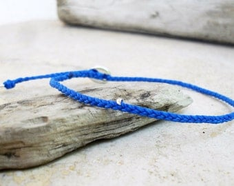 Beadstheater braided friendship bracelet in waxed cord