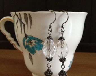 French Market Gunmetal Earrings