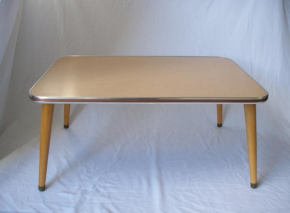 Retro blond formica coffee table Formica coffee table