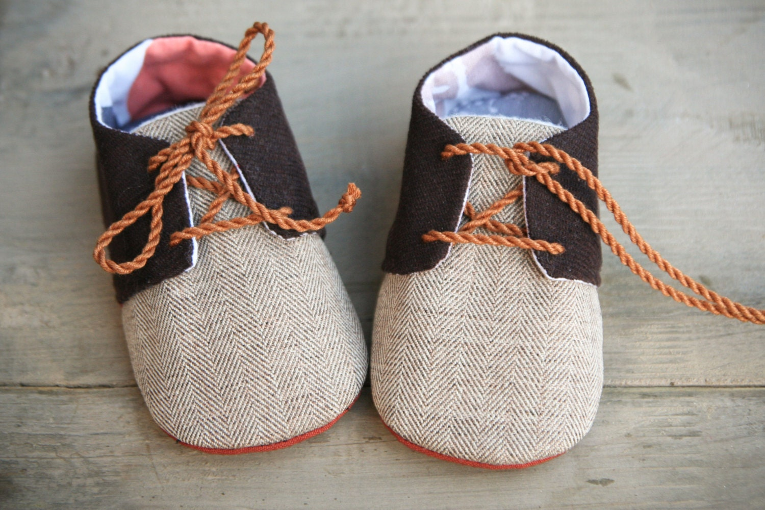 Brown baby boy shoes corduroy oxfords sneakers crib booties