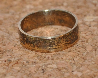 USSR 5 kopeck 80-s. Rustic coin ring. Size 9 1/4