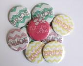 Set of 10 Chevron Bachelorette Party Buttons