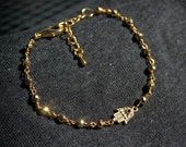 Gold Pyrite Hamsa Bracelet