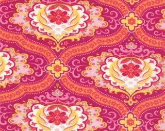 High Street Floral Medallions Chloe in Plum Pink by Lily Ashbury for Moda - 1/2 Yard