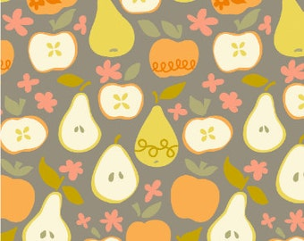 In the Orchard in Taupe - Clementine by Ana Davis for Blend Fabrics - 1/2 yard, Add'l Avail