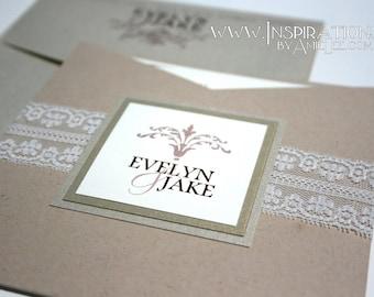 Lace Pocket Invitations