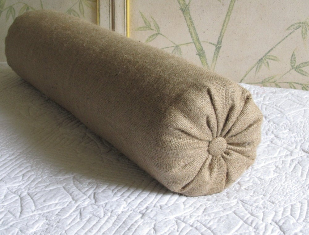 8 x 30 inch super long bolster pillow in burlap