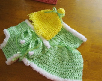 Infant Tinker Bell inspired costume photo prop