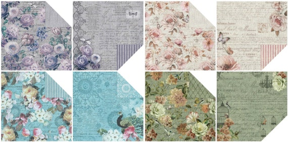 Fabscraps - 12x12 Paper - French Heritage Collection