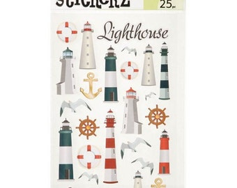 Lighthouse Stickers (3 Sheets, 75  Stickers)