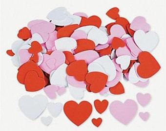 Valentine Heart Foam Shapes