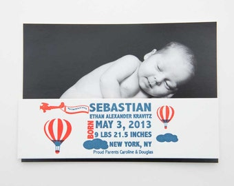 Letterpress Birth Announcement Belly Bands
