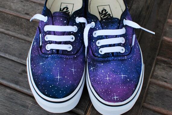 vans schuhe galaxy muster