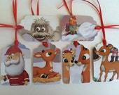 rudolph the red nosed reindeer christmas tags
