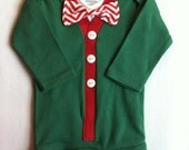 Baby Boy Christmas Cardigan Onesie Set. Christmas Bodysuit.
