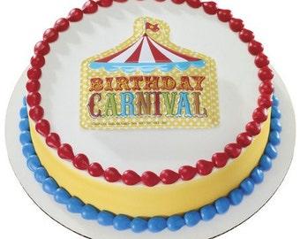 Birthday Carnival / Circus Cake Topper