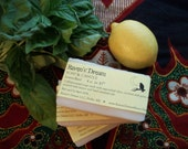 MABON SALE! Lemon-Basil Soap - All-Natural, Cold Processed Soap made with Essential Oils -  Vegan, Aromatherapy