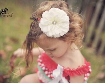 Large White flower headband/ newborn headband/ baby headband