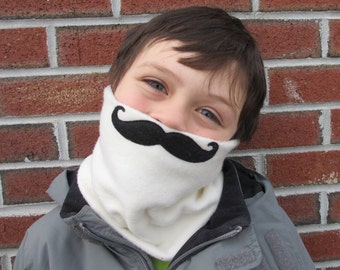 Mustachioed Fleece Neck Warmer