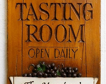 Wine Tasting Room Personalized Wall Plaque