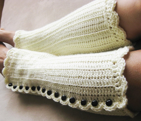 Crochet Pattern - Legwarmers - Shells and Beads