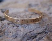 """Brass 1/4"""" Cuff Handstamped Bracelet"""