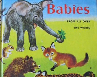 Wild Animal Babies -  Classic Vintage Little Golden Book - 1976 edition