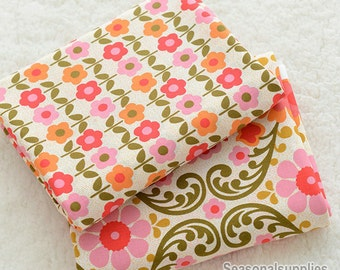 Half Yard Cotton Fabric for craft, Texture,Retro Floral Texture,diy (QT301)