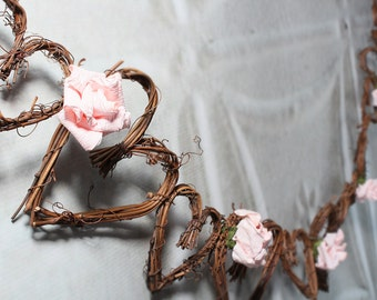 Rustic Wedding Garland, Grapevine Decorations, With Or without Roses
