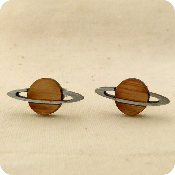 planet saturn earring - photo #9