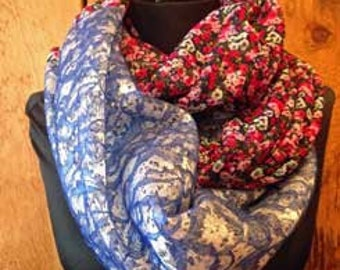 Lace & Floral One of a kind Infinity Scarf