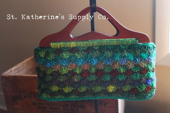 Free Crochet Purse Patterns With Wooden Handles : PDF Crochet Pattern Garfield Park Conservatory Purse Pattern