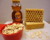 Oatmeal & Honey Exfoliating, Goat Milk Soap, Extra large bars, Psoriasis soap, Eczema Soap, Acne Soap