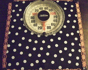 More New Mexican Oil Cloth Bathroom scales !