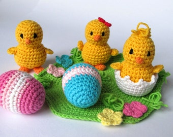 Easter Chicks / Chickens Crochet Pattern / Amigurumi