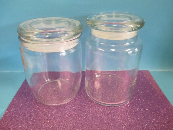 candle supply set of 2 empty candle glass jars for container. Black Bedroom Furniture Sets. Home Design Ideas